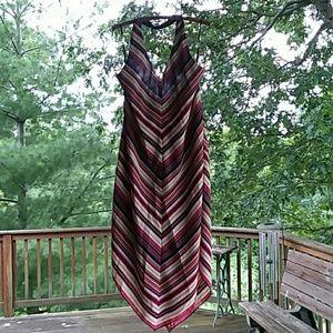 New York & Co halter, asymmetrical dress